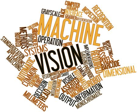 glossary: Abstract word cloud for Machine vision with related tags and terms
