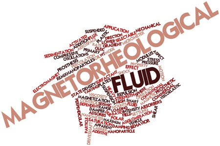 magnetization: Abstract word cloud for Magnetorheological fluid with related tags and terms