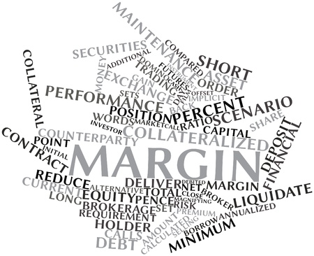Abstract word cloud for Margin with related tags and terms Stock Photo - 16527651