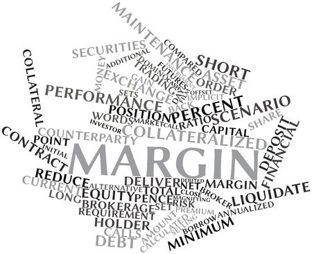 margine: Word cloud astratto per Margine con tag correlati e termini
