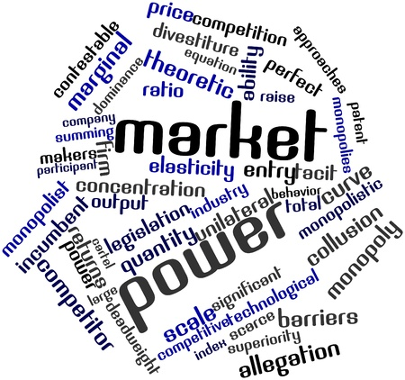 possesses: Abstract word cloud for Market power with related tags and terms