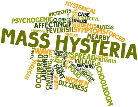 nauseous: Abstract word cloud for Mass hysteria with related tags and terms