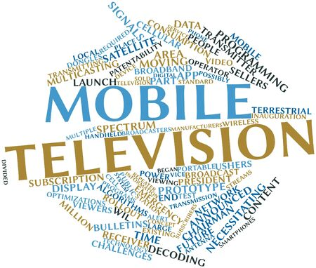 decoding: Abstract word cloud for Mobile television with related tags and terms