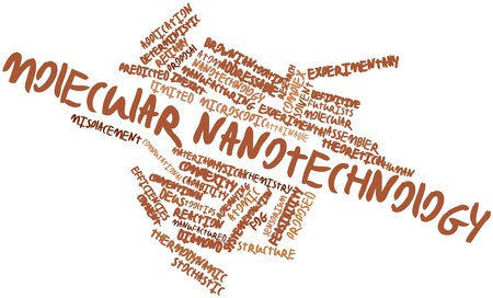 deterministic: Abstract word cloud for Molecular nanotechnology with related tags and terms Stock Photo