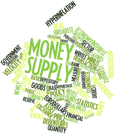 Abstract word cloud for Money supply with related tags and terms Stock Photo - 16529345