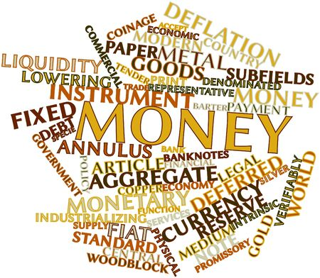 loaning: Abstract word cloud for Money with related tags and terms