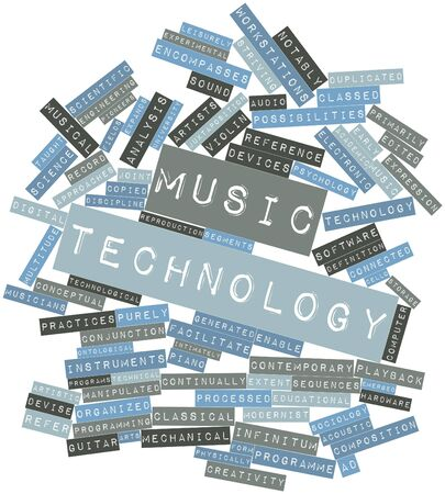 classed: Abstract word cloud for Music technology with related tags and terms