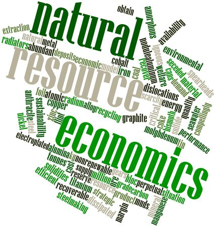 Abstract word cloud for Natural resource economics with related tags and terms Stock Photo - 16530244
