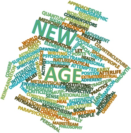 counterculture: Abstract word cloud for New Age with related tags and terms