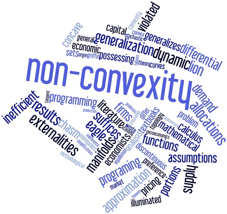 Abstract word cloud for Non-convexity with related tags and terms Stock Photo - 16529886