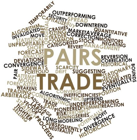 correlated: Abstract word cloud for Pairs trade with related tags and terms Stock Photo