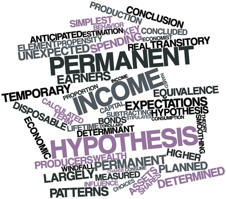 Abstract word cloud for Permanent income hypothesis with related tags and terms Stock Photo - 16528323