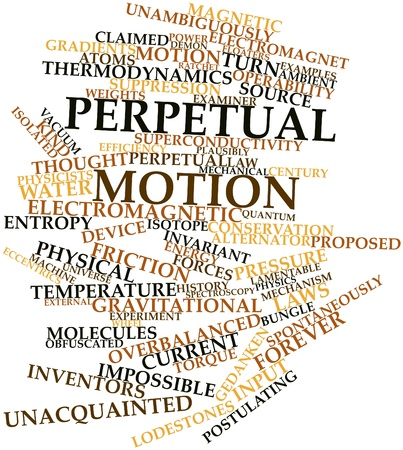 atomic center: Abstract word cloud for Perpetual motion with related tags and terms
