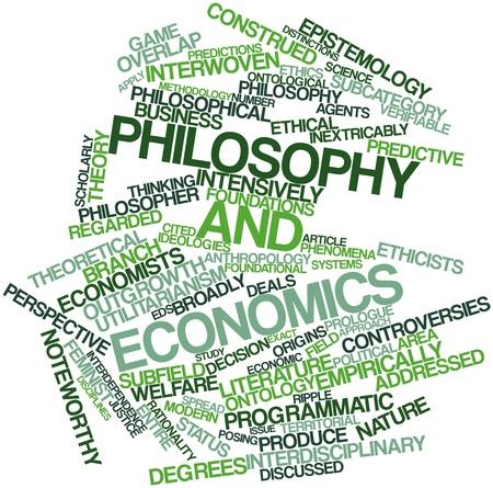 addressed: Word cloud astratto per filosofia ed economia con tag e termini correlati