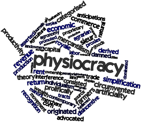 Abstract word cloud for Physiocracy with related tags and terms Stock Photo - 16529679
