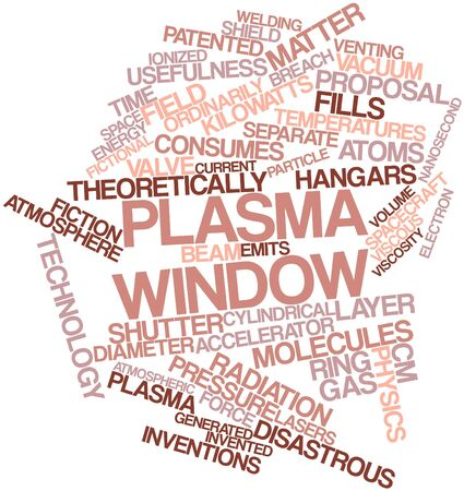 venting: Abstract word cloud for Plasma window with related tags and terms Stock Photo