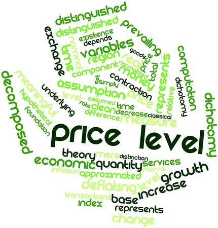 Abstract word cloud for Price level with related tags and terms Stock Photo - 16528275
