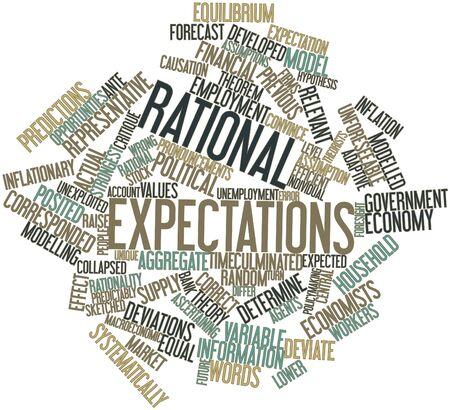 Abstract word cloud for Rational expectations with related tags and terms Stock Photo - 16530691