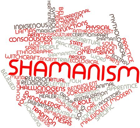 Abstract word cloud for Shamanism with related tags and terms Stock Photo - 16530057