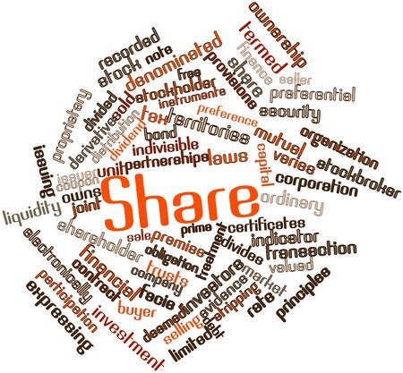 deemed: Abstract word cloud for Share with related tags and terms Stock Photo