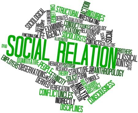 conflictos sociales: Nube palabra abstracta para la relación social con las etiquetas y términos relacionados