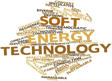 circumstances: Abstract word cloud for Soft energy technology with related tags and terms