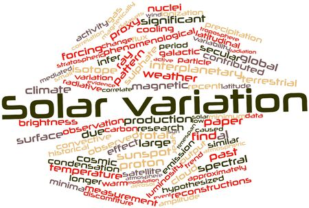 correlate: Abstract word cloud for Solar variation with related tags and terms