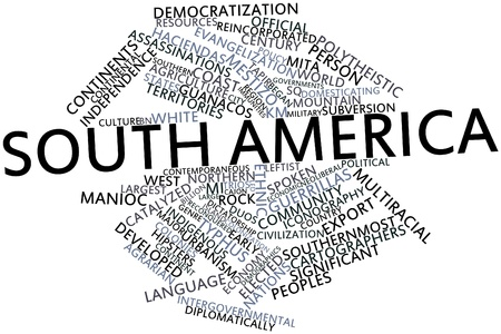 Abstract word cloud for South America with related tags and terms Stock Photo - 16528121