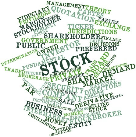 Abstract word cloud for Stock with related tags and terms photo