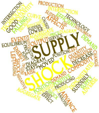 Abstract word cloud for Supply shock with related tags and terms photo