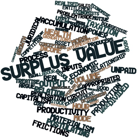 Abstract word cloud for Surplus value with related tags and terms Stock Photo - 16530148