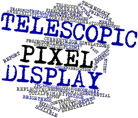 potentially: Abstract word cloud for Telescopic pixel display with related tags and terms
