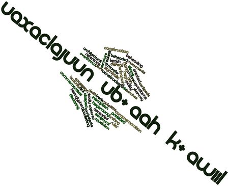 accession: Abstract word cloud for Uaxaclajuun Ubaah Kawiil with related tags and terms