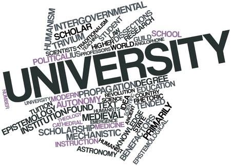 dialectic: Abstract word cloud for University with related tags and terms