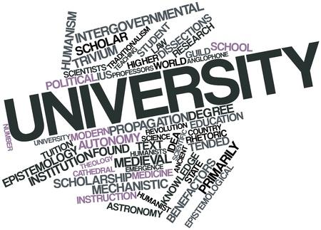 humanismo: Nube palabra abstracta para la Universidad con las etiquetas y términos relacionados