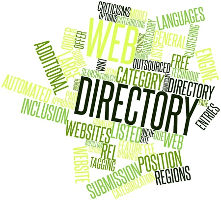 Abstract word cloud for Web directory with related tags and terms Stock Photo - 16528732
