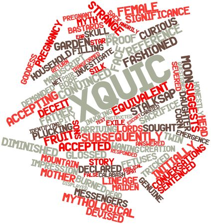 Abstract word cloud for Xquic with related tags and terms Stock Photo - 16530135