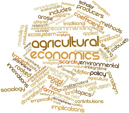 undergraduate: Abstract word cloud for Agricultural economics with related tags and terms