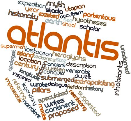 Abstract word cloud for Atlantis with related tags and terms Stock Photo - 16529730