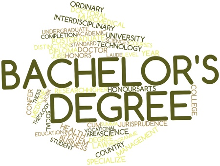 undergraduate: Abstract word cloud for Bachelors degree with related tags and terms