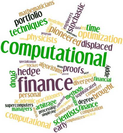 quantitative: Abstract word cloud for Computational finance with related tags and terms