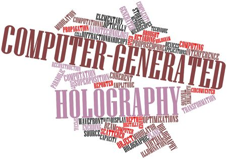 Abstract word cloud for Computer-generated holography with related tags and terms Stock Photo - 16528100