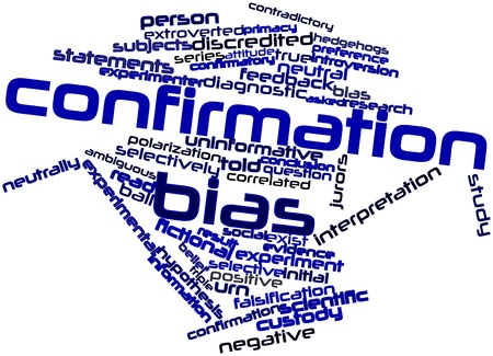 confirmation: Abstract word cloud for Confirmation bias with related tags and terms