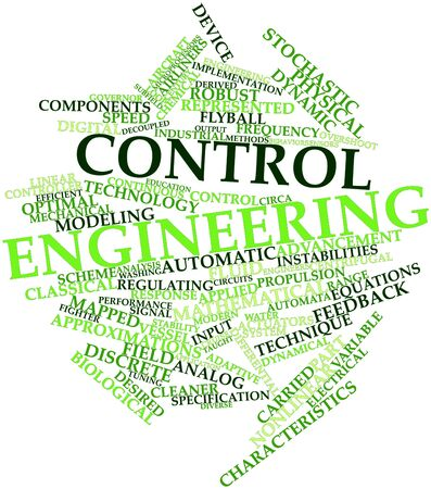 auto washing: Abstract word cloud for Control engineering with related tags and terms