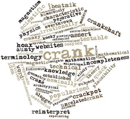 overthrown: Abstract word cloud for Crank with related tags and terms Stock Photo