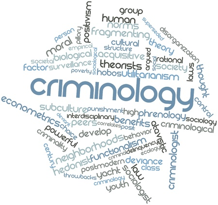 heterogeneity: Abstract word cloud for Criminology with related tags and terms