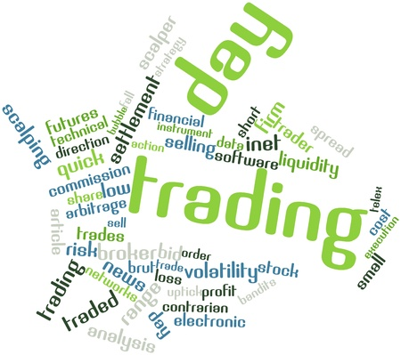 Abstract word cloud for Day trading with related tags and terms Stock Photo - 16527438