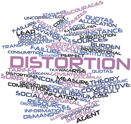 marginal: Abstract word cloud for Distortion with related tags and terms