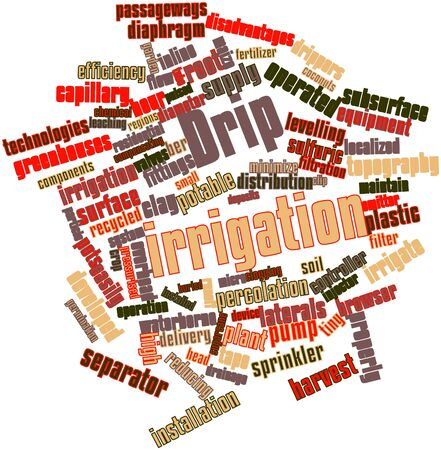 disadvantages: Abstract word cloud for Drip irrigation with related tags and terms