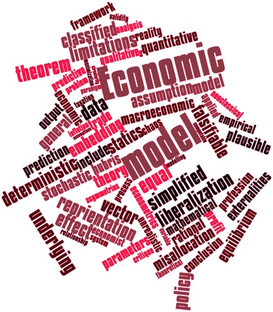 Abstract word cloud for Economic model with related tags and terms Stock Photo - 16530475